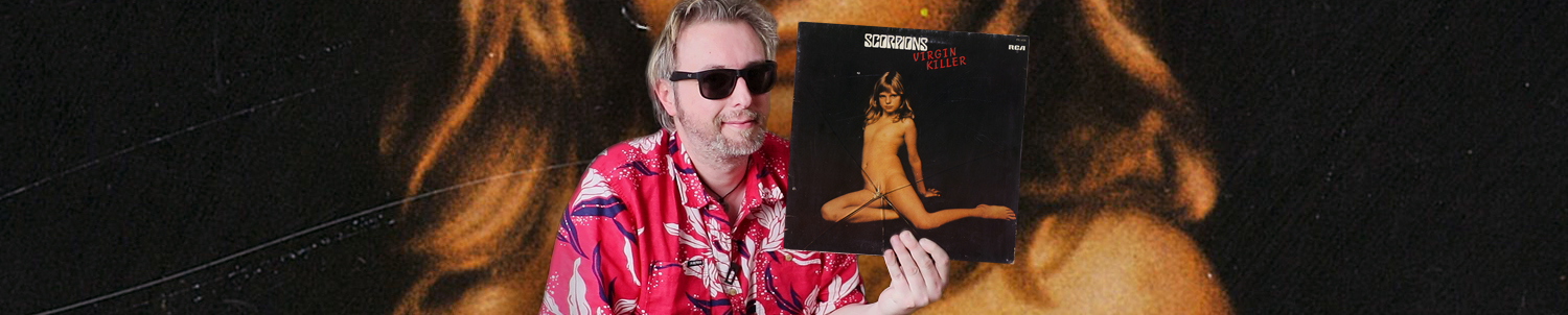 "Cover Choc, Scorpions ""Virgin Killer"" (Monsieur Vinyl)"